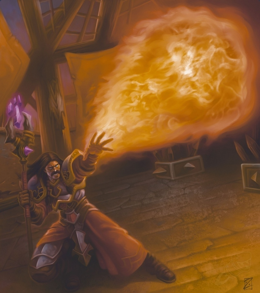 Огненная глыба арт Hearthstone