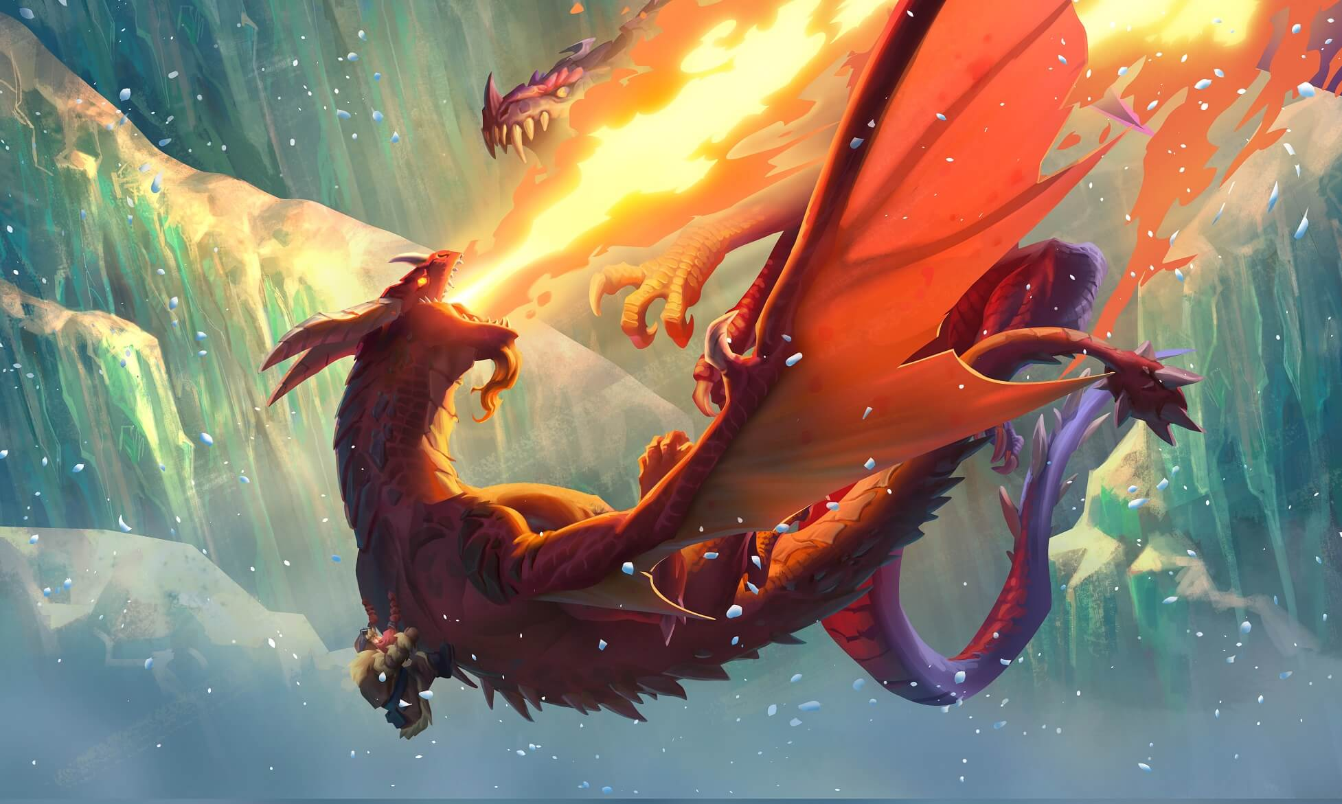 Натиск драконов синематик арт