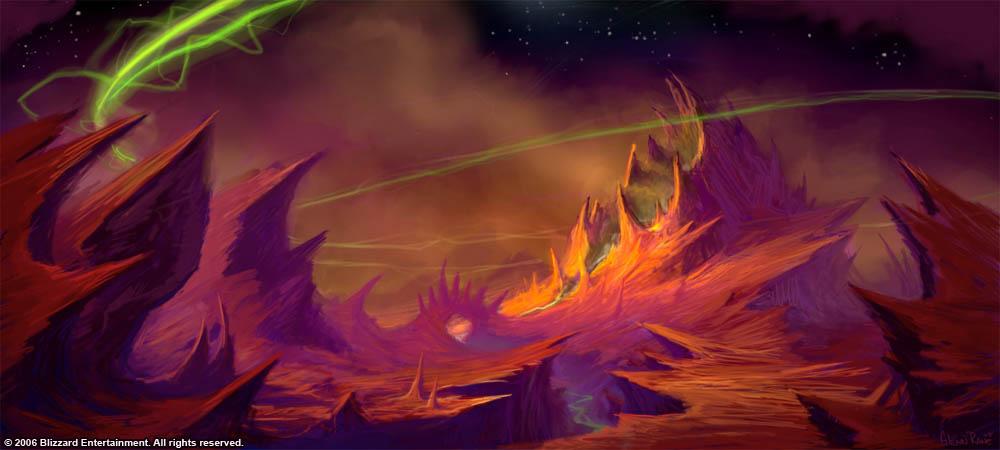 Полуостров Адского Пламени арт World of Warcraft