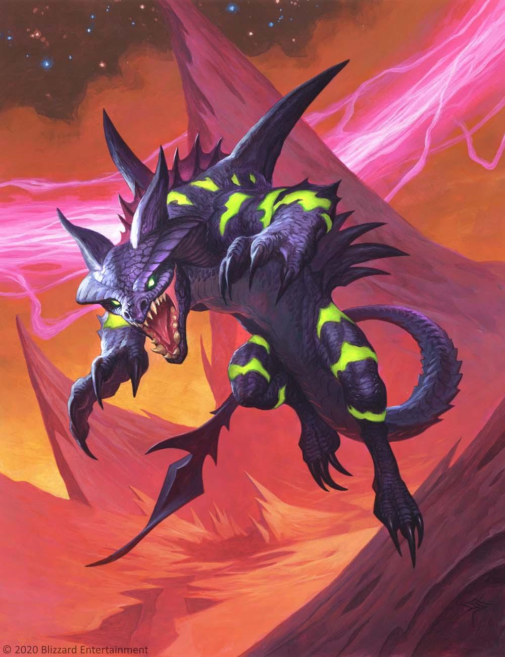Зиксор, сверххищник арт Hearthstone