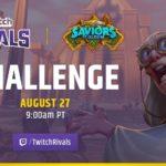 27 августа пройдет 3-й турнир Twitch Rivals Team Arena Challenge