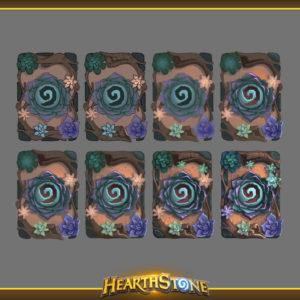 пошаговое создание рубашки для карт Пустынный цветок Hearthstone